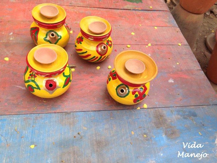 Traditional Kurva earthenware used for praying