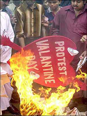 Anti-Valentine's Day, Valentine's Day, India, Protest