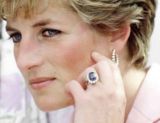 Princess Diana Engagement Ring Replica White Gold