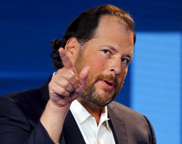 Marc Benioff, chairman and CEO of Salesforce speaks at the Wall Street Journal Digital Live ( WSJDLive ) conference at the Montage hotel in Laguna Beach,